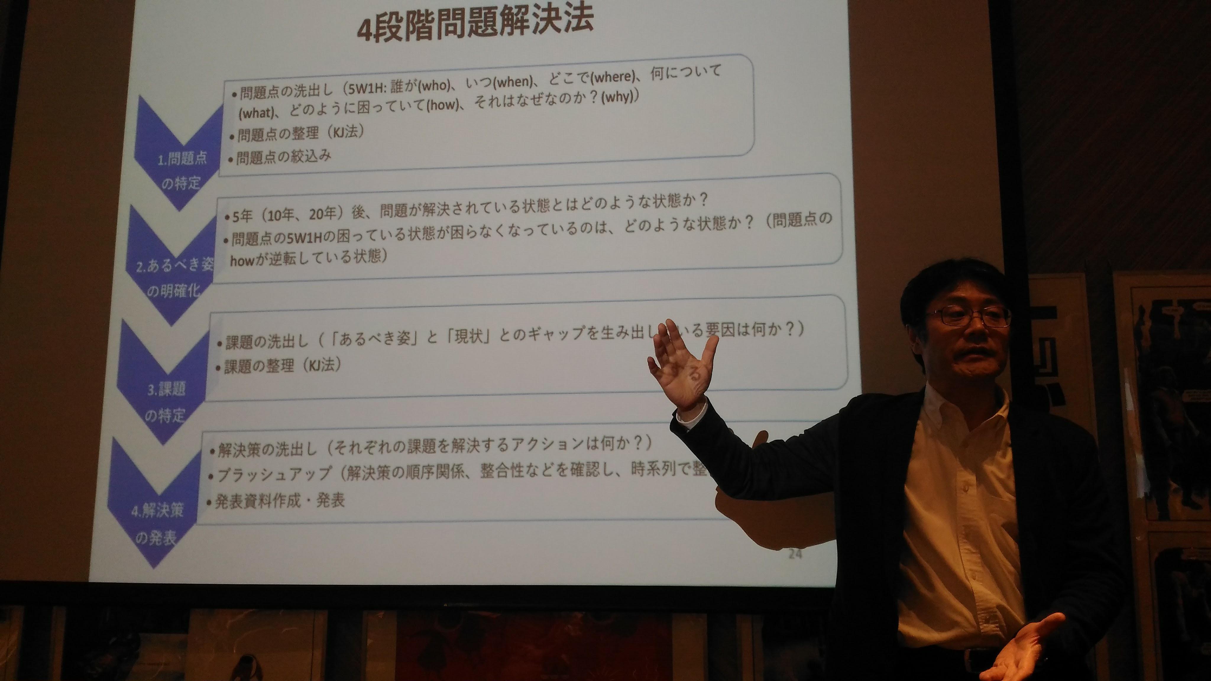 バックキャスティングを説明する川島先生